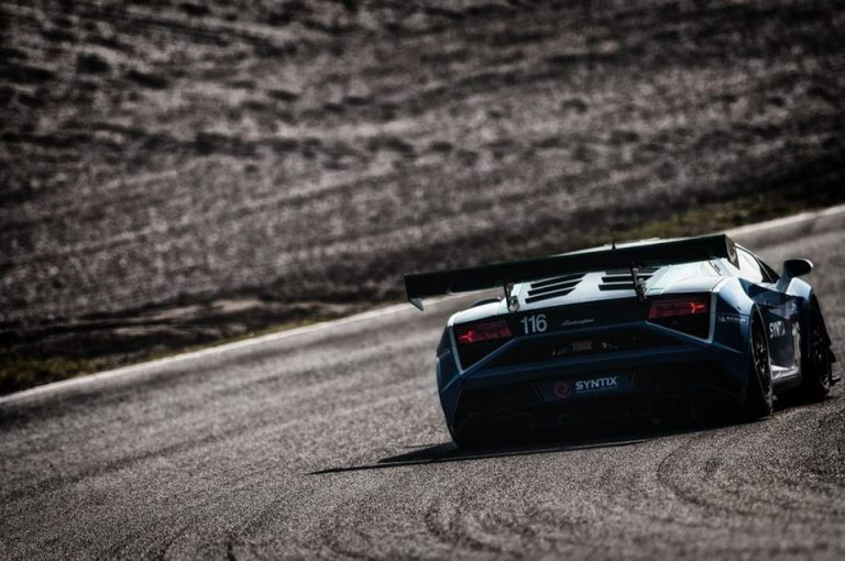 Syntix Blue Lamborghini Gallardo LT2 GT3 - Back Picture - Syntix Innovative Lubricants